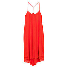 Buy Mango Midi Asymmetric Dress, Scarlet Online at johnlewis.com
