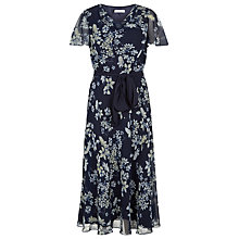 Buy Jacques Vert Butterfly Floral Dress, Multi Navy Online at johnlewis.com