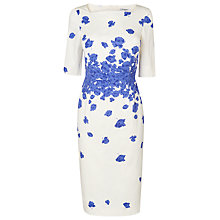 Buy L.K. Bennett Lara Printed Dress, Cornflower Online at johnlewis.com