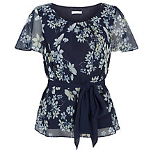 Buy Jacques Vert Butterfly Floral Top, Multi Navy Online at johnlewis.com