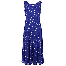 Buy Jacques Vert Spot Print Dress, Mid Blue Online at johnlewis.com
