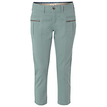 Buy White Stuff Moon Slim Fit Cropped Trousers, Sea Kelp Green Online at johnlewis.com