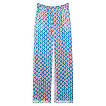 Buy Mango Silk Blend Palazzo Trousers, Light Pastel Blue Online at johnlewis.com