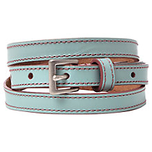 Buy White Stuff Skinny Leather Belt, Ceramic Blue Online at johnlewis.com