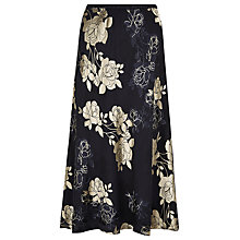 Buy Jacques Vert Floral Devore Skirt, Multi Navy Online at johnlewis.com