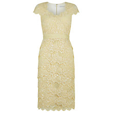Buy Jacques Vert Sweetheart Lace Dress, Light Yellow Online at johnlewis.com