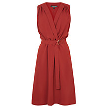 Buy Warehouse Open Collar Dress, Terra Cotta Online at johnlewis.com