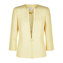 Buy Jacques Vert One Button Jacket, Light Yellow Online at johnlewis.com