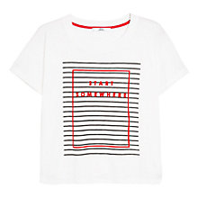 Buy Mango Message T-shirt, Natural White Online at johnlewis.com