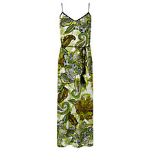 Buy Warehouse Africa Floral Print Midi Dress, Multi Online at johnlewis.com