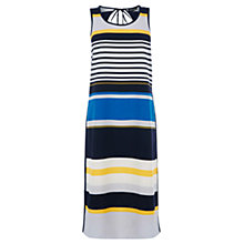 Buy Warehouse Stripe Column Midi Dress, Multi Online at johnlewis.com
