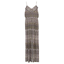 Buy Karen Millen Zig Zag Wide-leg Jumpsuit, Brown/Multi Online at johnlewis.com