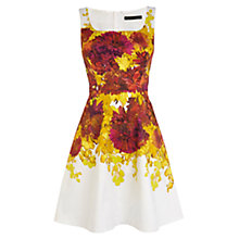 Buy Karen Millen Printed Floral Cotton Dress, White/Multi Online at johnlewis.com