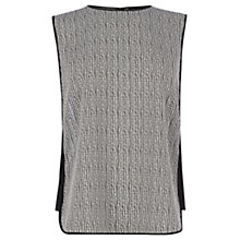Buy Warehouse Stripe Tabard Top, Black Online at johnlewis.com