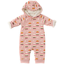 Buy Little Green Radicals Baby Golden Bird Cage Wood Snowsuit, Pink Online at johnlewis.com