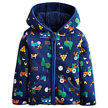 Buy Baby Joule Reversible Farm Fleece, Blue/Multi Online at johnlewis.com