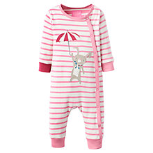 Buy Baby Joule Flopsy Mouse Striped Romper, Pink/Multi Online at johnlewis.com