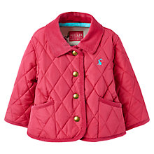 Buy Little Joule Mabel Quilted Coat, Pink Online at johnlewis.com