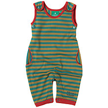 Buy Little Green Radicals Baby Stripy Dungarees Online at johnlewis.com
