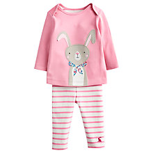 Buy Baby Joule Poppy Rabbit Outfit, Pink/Multi Online at johnlewis.com