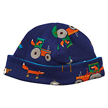 Buy Baby Joule Baby's Bonnet Farm Reversible Hat, Blue Online at johnlewis.com