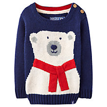 Buy Baby Joule Polar Bear Jumper, Navy Online at johnlewis.com