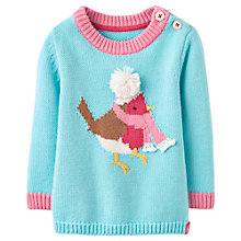 Buy Baby Joule Baby's Robin Jumper, Turqoise Online at johnlewis.com