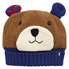 Buy Baby Joule Bear Knit Hat, Blue/Brown Online at johnlewis.com