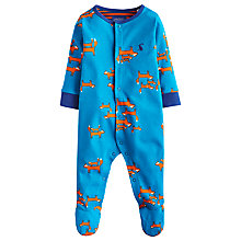 Buy Baby Joule Ziggy Fox Sleepsuit, Blue/Orange Online at johnlewis.com
