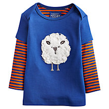 Buy Baby Joule Baby's Pitch Fuzzy Sheep Top, Blue Online at johnlewis.com