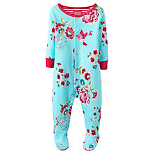Buy Baby Joule Razamataz Flower Sleepsuit, Turquoise Online at johnlewis.com