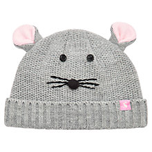 Buy Baby Joule Amie Mouse Knit Hat, Grey Online at johnlewis.com
