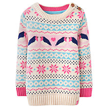 Buy Baby Joule Morag Fairisle Jumper, Cream/Multi Online at johnlewis.com