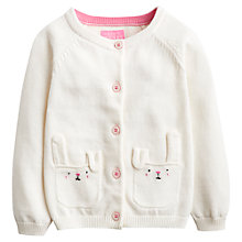 Buy Baby Joule Rabbit Cardigan, White Online at johnlewis.com