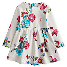 Buy Little Joule Hannah Flower Jersey Dress, Cream/Multi Online at johnlewis.com