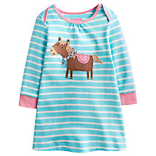 Buy Baby Joule Kaye Horse Jersey Dress, Blue/Multi Online at johnlewis.com