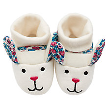 Buy Little Joule Baby's Nipper Hare Slippers, Multi Online at johnlewis.com