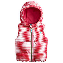 Buy Baby Joule Georgia Stripe Gilet, Pink/White Online at johnlewis.com