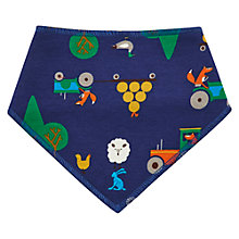 Buy Baby Joule Farm Bib, Blue Online at johnlewis.com