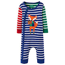 Buy Baby Joule Baby's Fife Fox Stripe Romper, Blue/Multi Online at johnlewis.com