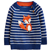 Buy Little Joule Baby's Fox Jumper, Multi Online at johnlewis.com