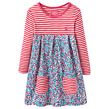 Buy Baby Joule Baby's Hayley Ditsy Stripe Dress, Pink/Blue Online at johnlewis.com