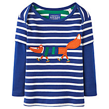 Buy Baby Joule Baby's Stripe Fox T-Shirt, Blue Online at johnlewis.com