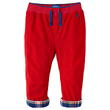 Buy Baby Joule Alfred Cord Trousers, Red Online at johnlewis.com