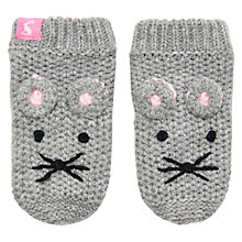 Buy Baby Joule Amie Mouse Mitts, Grey Online at johnlewis.com