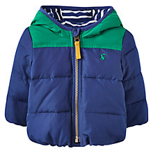 Buy Baby Joule Baby Flynn Padded Coat, Blue Online at johnlewis.com