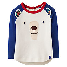 Buy Baby Joule Baby's Polar Bear Face Top, White/Blue Online at johnlewis.com