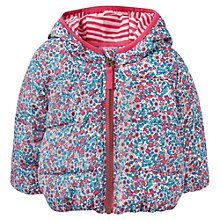 Buy Baby Joule Baby's Annabelle Ditsy Print Coat, Blue/Pink Online at johnlewis.com