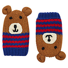 Buy Baby Joule Bear Mittens, Blue/Multi Online at johnlewis.com