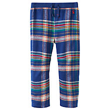 Buy Baby Joule Bobby Tartan Trousers, Blue/Multi Online at johnlewis.com